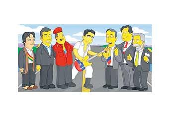 Prsidente Correa en los Simpson.