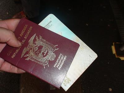Asi estaba el pasaporte de Antonio Valencia