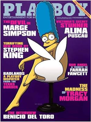 Una primera mirada a Marge Simpson en la Playboy.