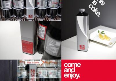 Proyecto de estudiante para nuevos envases de Coca Cola.