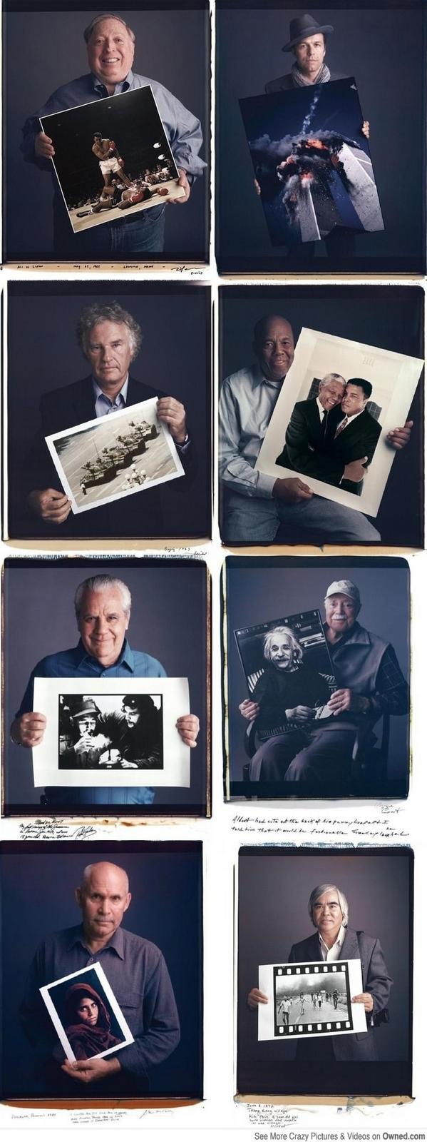 Las caras atras de esas fotos famosas e históricas.