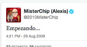 El primer tweet de…