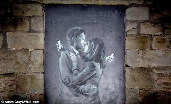Banksy al ataque una vez mas.