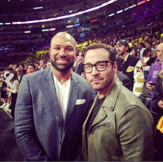 Derek Fisher y Jeremy Piven