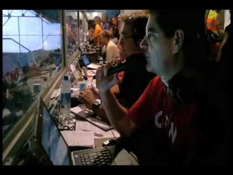 La prensa de Brasil en el estadio Capwell.