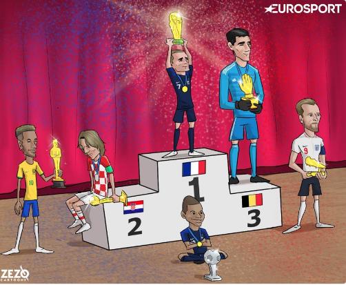 La caricatura de ZEZO durante el mundial