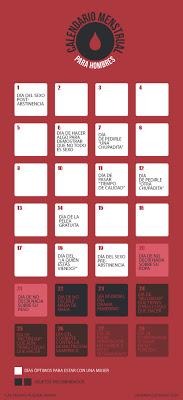 Calendario menstrual masculino.