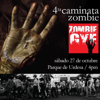 Camina como zombie.