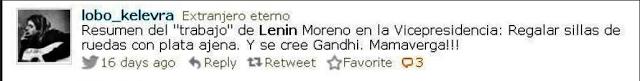 Hay quienes no aprecian a Lenin Moreno