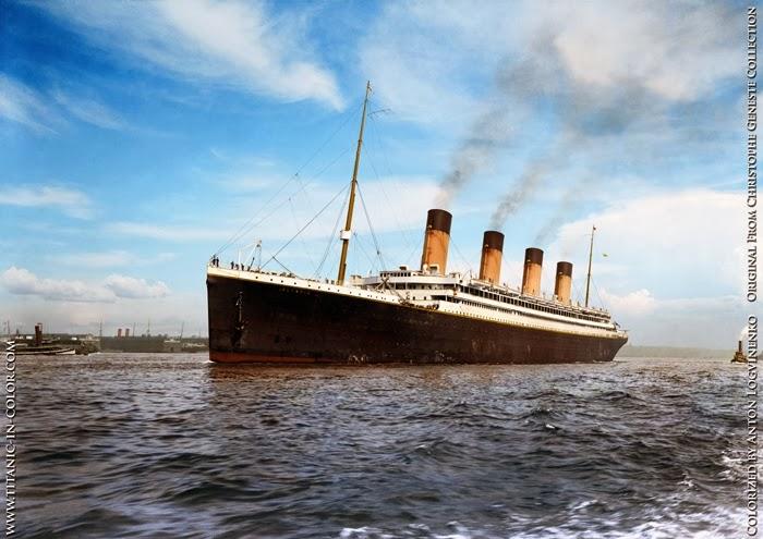 Titanic a color.