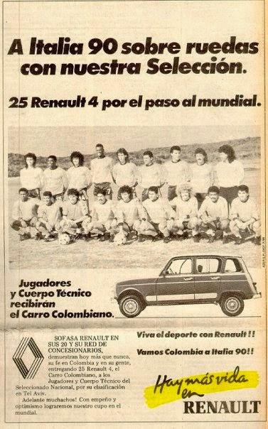 El premio que les esperaba a Colombia en Italia 90