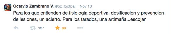 Fue un mal tuit de Octavio Zambrano?