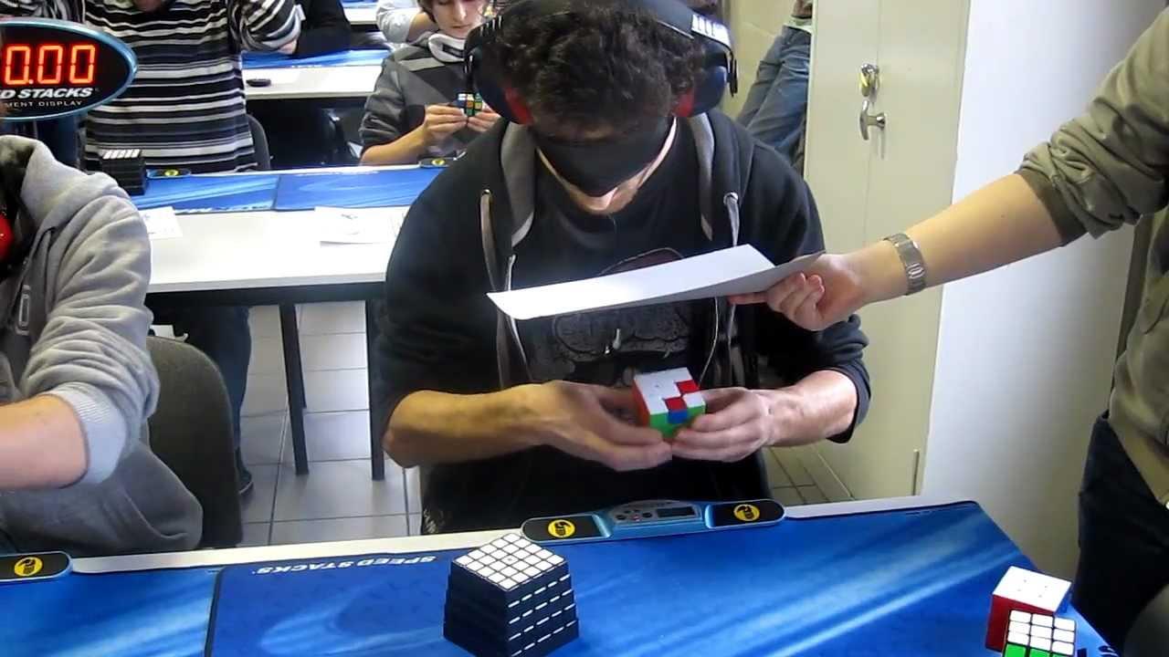 Cubo Rubik y sin ver