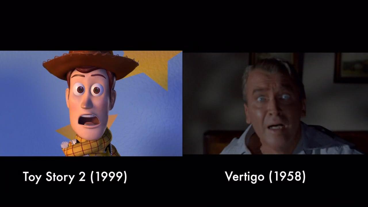 Fantastico tributo de Pixar al cine.