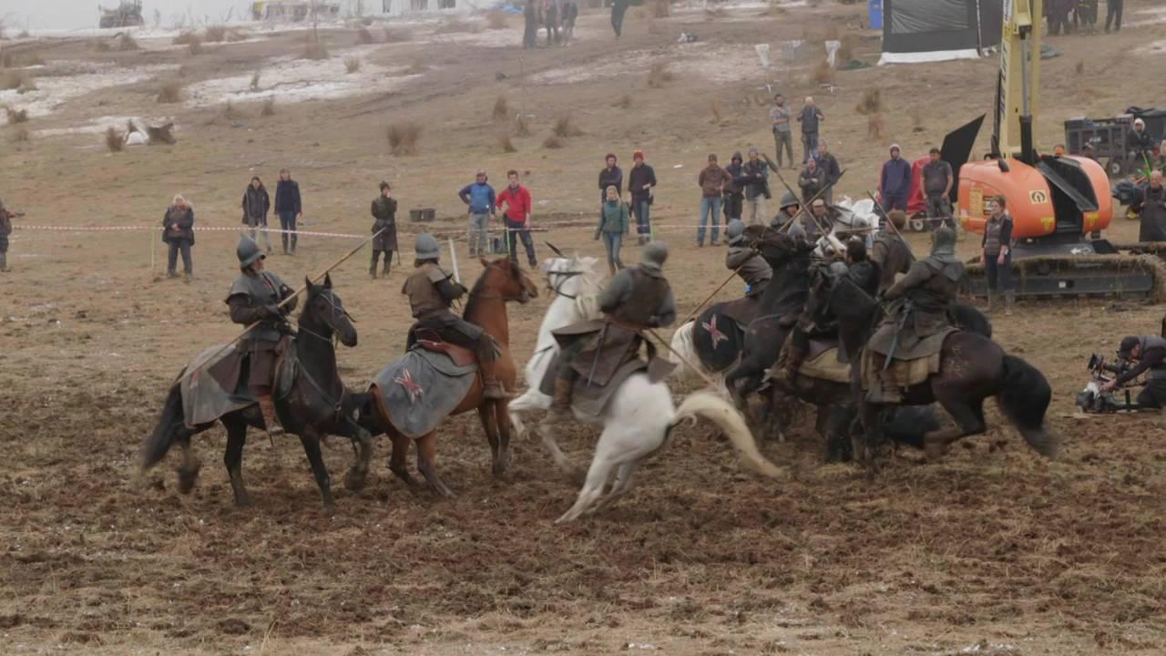 La grabación de la batalla por Winterfell en Game of Thrones (video)